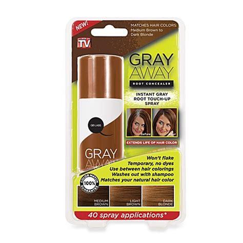 gray away root concealer gray away hair dye as seen on grey away root concealer in medium brown to dark blonde