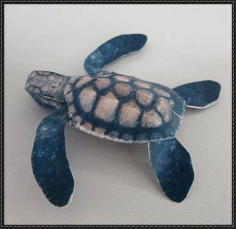 Papercraft Turtle - hawksbill sea turtle free papercraft