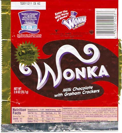 wonka charlie and the chocolate factory chocolate bar