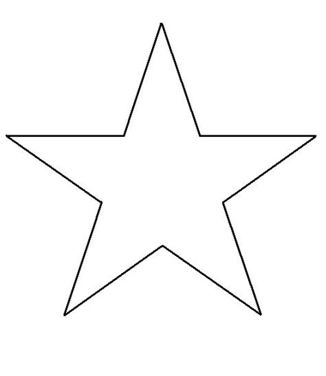 free print shape star template thegluegungirl how to