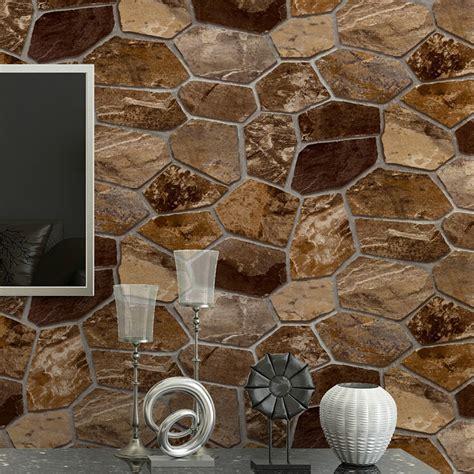 waterproof wallpaper for walls 3d stereo imitation rock brick stone wallpaper roll living