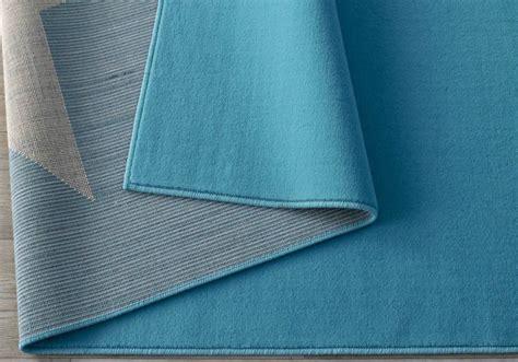 kurzflor teppich blau design velours teppich blau creme 140x200 cm