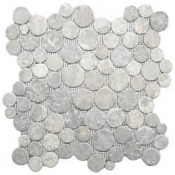 light grey moon mosaic tile pebble tile shop