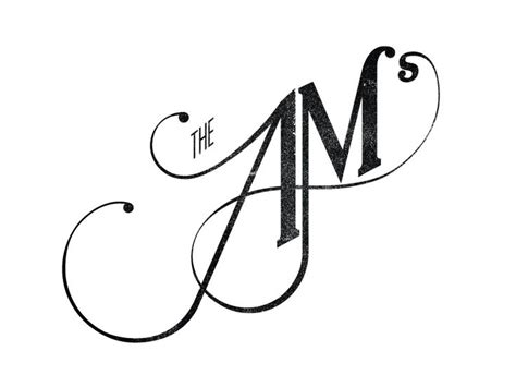 tattoo lettering jm the ams logo typography logo design and design