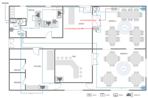 Floor Plan Dwg by Network Layout Floor Plans Solution Conceptdraw Com