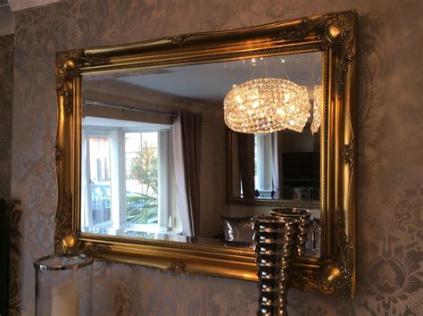 large antique gold mirror