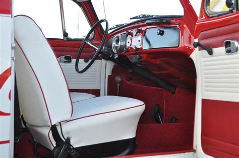 vw beetle upholstery white beetle with red interior yahoo image search