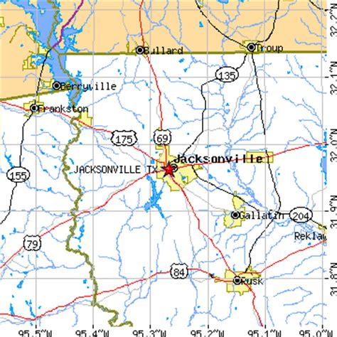 map of jacksonville texas jacksonville texas tx population data races housing economy