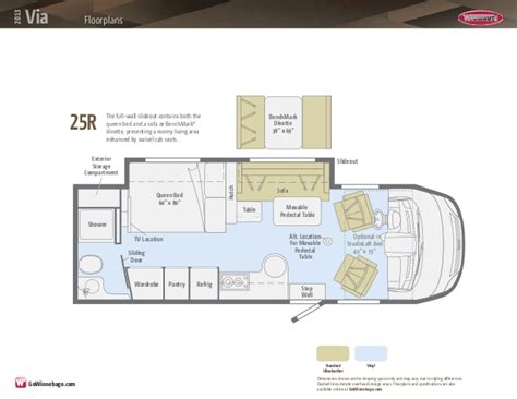 winnebago via floor plans winnebago via floor plans carpet review