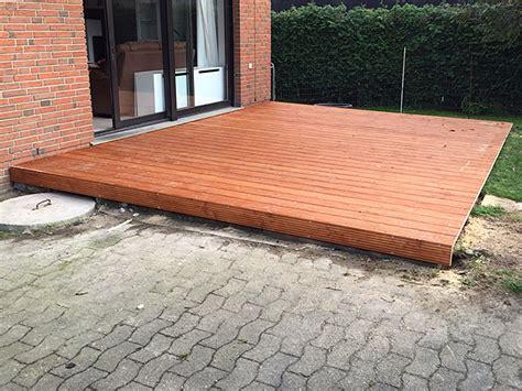 Holzterrasse Auf Beton 3651 holzterrasse auf beton verlegung auf betonsockeln
