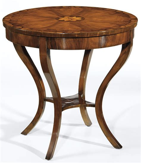 Occasional Table and Biedermeier Style Table