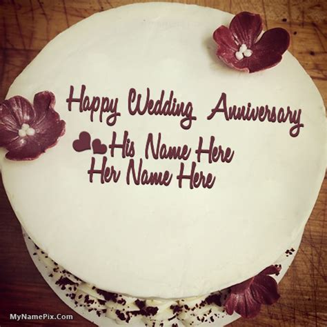 Wedding Anniversary Year Names by Unique Anniversary Cake With Name
