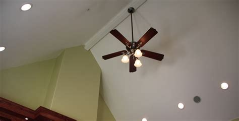 Sloped Ceiling Fans by How To Install A Ceiling Fan On A Sloped Ceiling