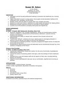 Free Nursing Resume by Sle Resume For A Rn With 4 Yeaars Experience Resume Template Exle