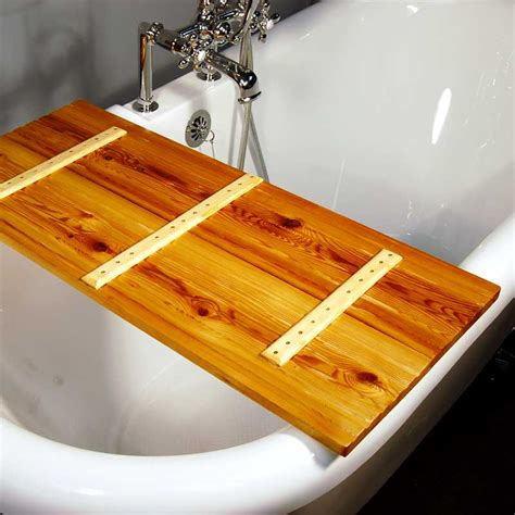 wooden bathtub caddy wooden tub caddy natural tamarack the loo store