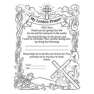 lenten promise card template lenten coloring page from herald entertainment lent