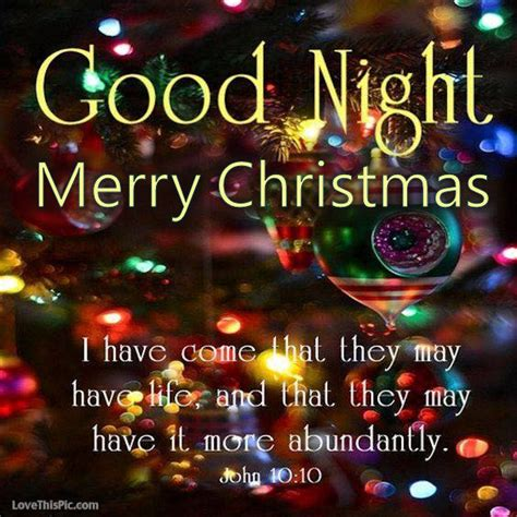 goodnight merry christmas pictures   images  facebook tumblr pinterest  twitter