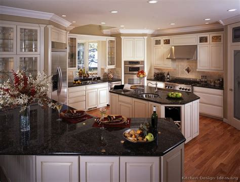 White Kitchen Cabinets With Black Granite Pictures Of Kitchens Traditional White Antique Kitchen Cabinets Page 2
