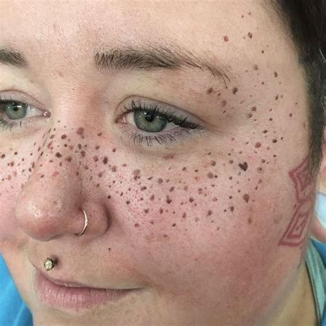 tattoo over freckles latest tattoo trend sees women get freckles inked on their
