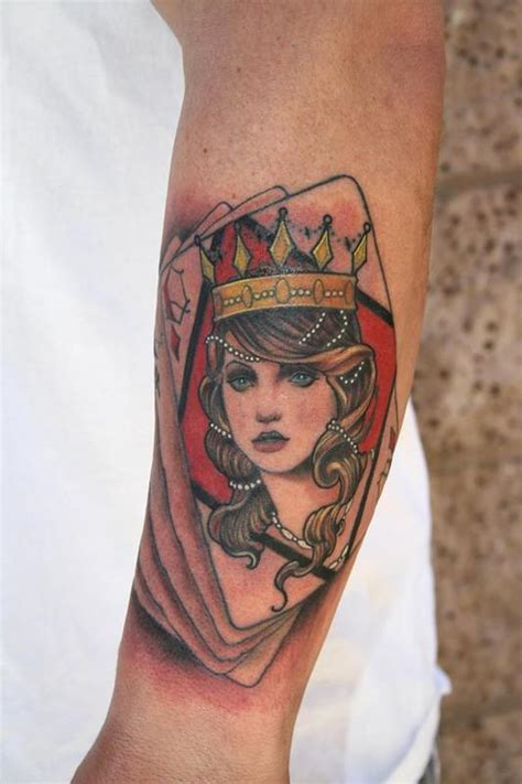 diamond queen tattoo queen of diamonds tattoo