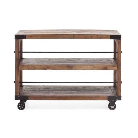 distressed wood shelf