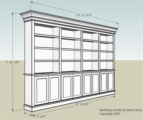 built in bookshelf dimensions and doors how to
