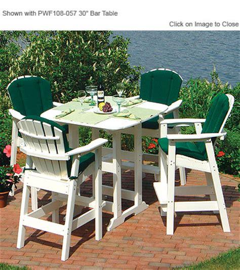 envirowood outdoor poly furniture seaside casual sea060 adirondack shellback bar chair