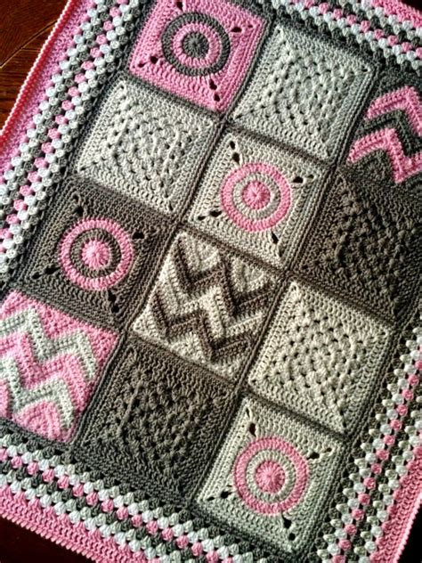 Patchwork Blanket Patterns - pattern babylove brand modern patchwork blanket crochet