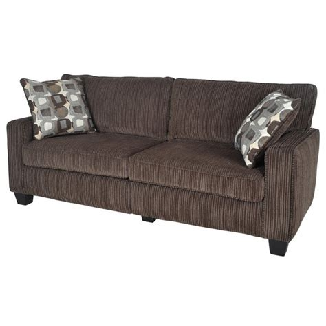 serta sofas serta san paolo deluxe sofa in mink brown fabric cr43539pb