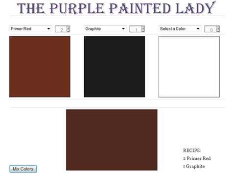 brown chalk paint the purple painted