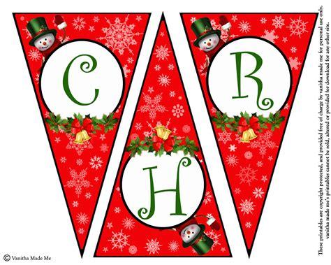 diy  printable christmas banner vanitha