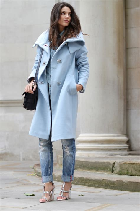 light blue fur coat how to wear a pastel coat 2018 fashiongum com