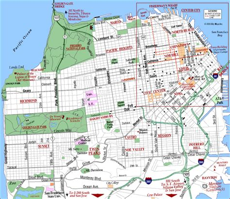 san francisco map maps of san francisco