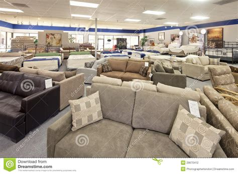 Furniture Mattress Warehouse by Furniture Displayed In A Clothes Shop Up Low Angle