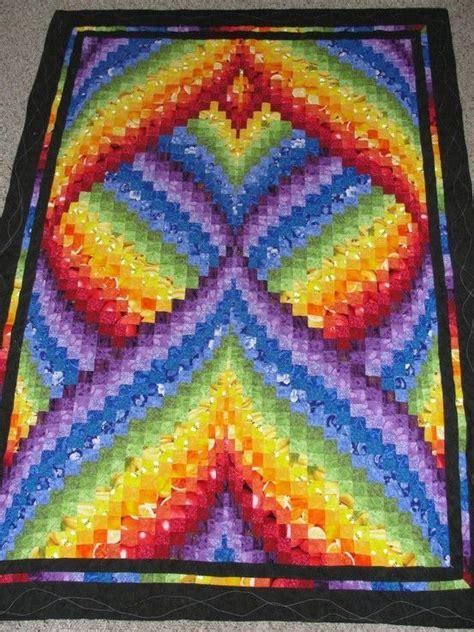 Bargello Patchwork - rainbow quot fractal quot bargello quilt by deborah things i