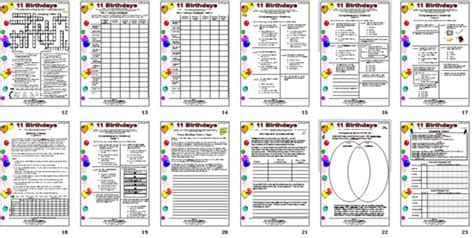 11 birthdays book report wings activities for 11 birthdays by wendy mass