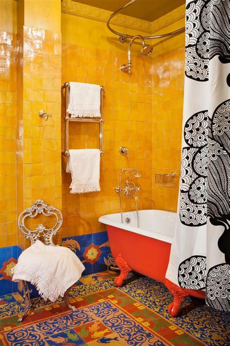 colorful wallpaper for bathroom 15 attractive bohemian bathrooms ideas