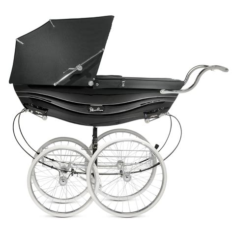 The Silver Cross buy the black balmoral coach built traditional pram from