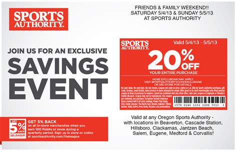 Sports Authority Gift Card Discount - sports authority printable coupons march 2015