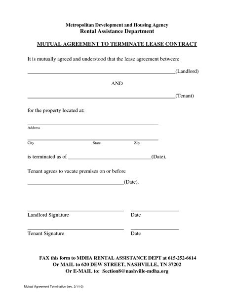 Lease Termination Agreement Template Free best photos of end of lease agreement template lease