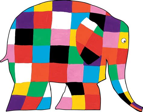 Elma The Patchwork Elephant - elmer the rainbow elephant crafts