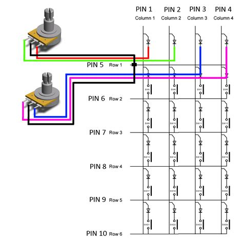 rotary encoder joystick wiring diagram 28 images