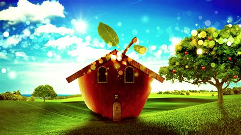 Apple House Edited Version By Muamerart On Deviantart