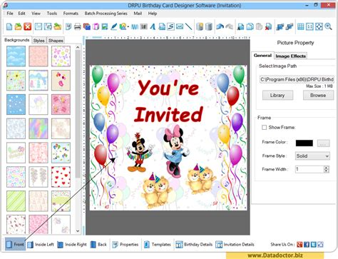 invitation design program free download birthday card maker software design funny greeting happy