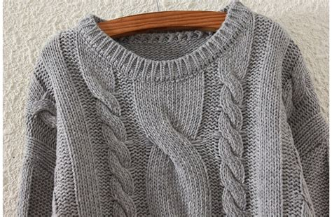 grey cable knit jumper grey side split cable knit jumper 15jp00015 2