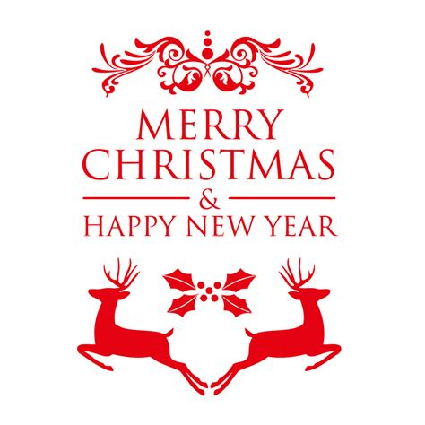 happy new year merry christmas window sticker christmas