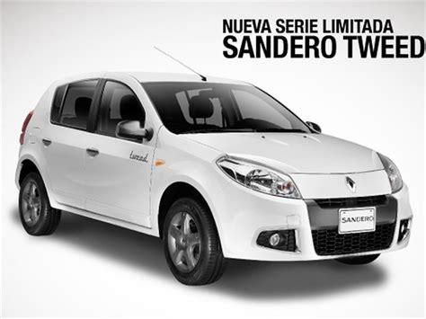 carros nuevos html autos post llega la nueva serie limitada renault sandero tweed a colombia autocosmos