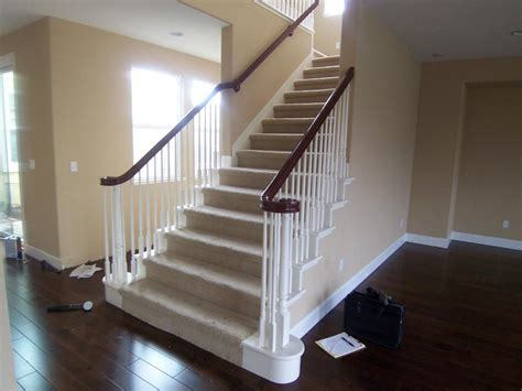 replace banister with half wall half wall instead of a stair railings joy studio design