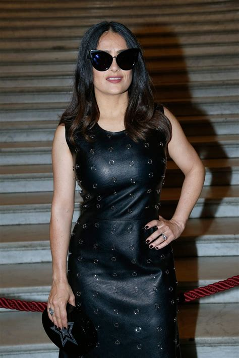 Stella Mccartney Fashion Week by Salma Hayek At Stella Mccartney Fashion Show At