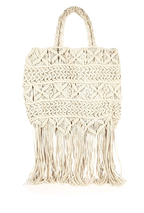Macrame Bags - day birger et mikkelsen day macrame tassle bag in beige lyst